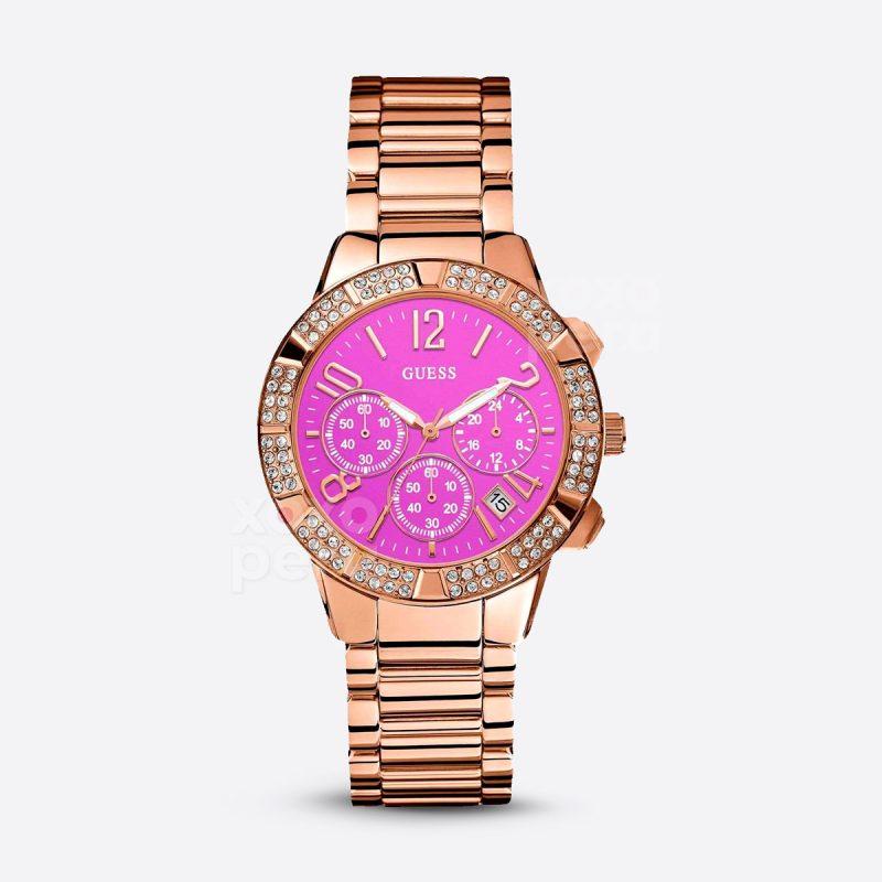 Reloj Guess original fondo fucsia